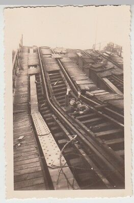 (F28997) Orig. Foto zerstörte Brücke in Breitfurt 1939