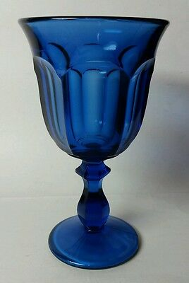 "IMPERIAL ""OLD WILLIAMSBURG"" DEEP ULTRA BLUE 6 1/2"" WATER GOBLET(S)"