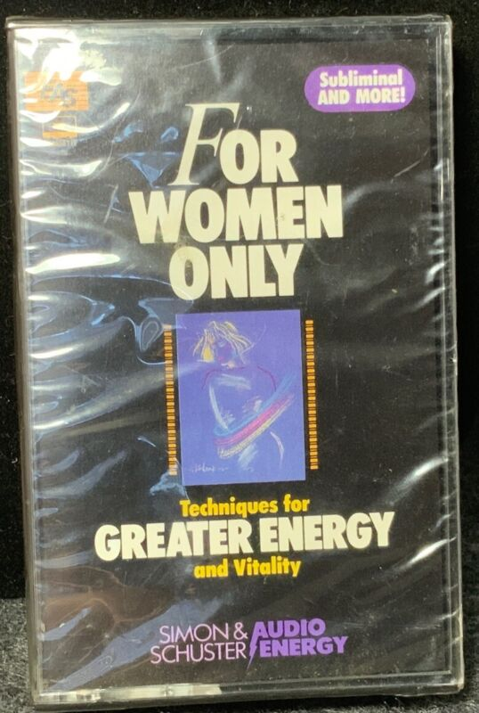 For Women Only-Techniques For Greater Energy And Vitality-New Sealed-Cassette