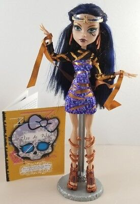 New Monster High Boo York Cleo De Nile Doll Comet Crossed With Fashion Mummy
