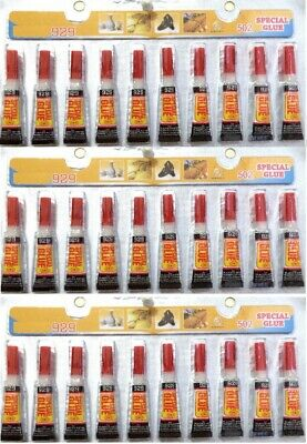 30 Tubes of  Super Glue - 'Cyanoacrylate Adhesive'  FREE SHIPPING USA SELLER