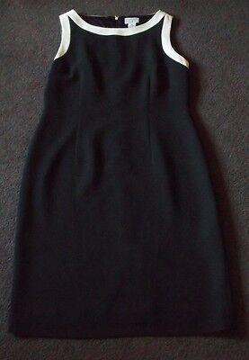Women's Size 10 Black & White Sleeveless Ann Taylor Loft Dress