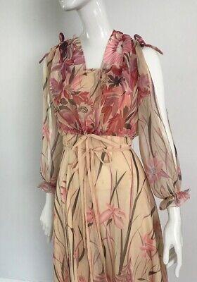 80s Dresses | Casual to Party Dresses Vintage 1980's Flowing Floral Maxi Dress $39.01 AT vintagedancer.com
