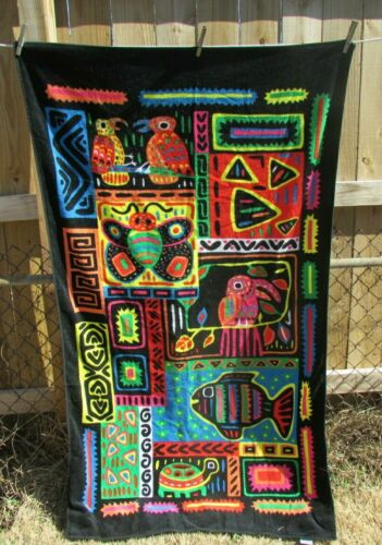 Hilasal Beach Towel Tropic Jungle Animals Graphics All Cotton El Salvador Tribal