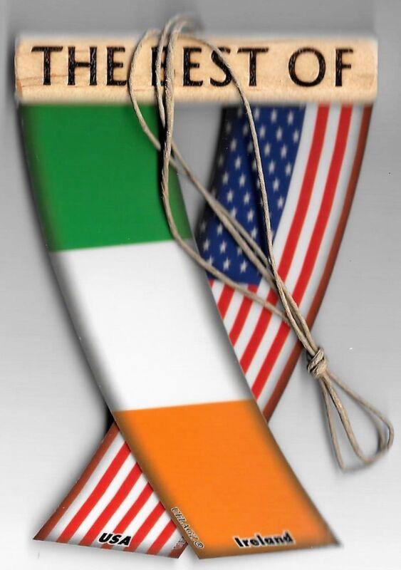 Rear view mirror car flags Ireland and USA Irish unity flagz for inside the car