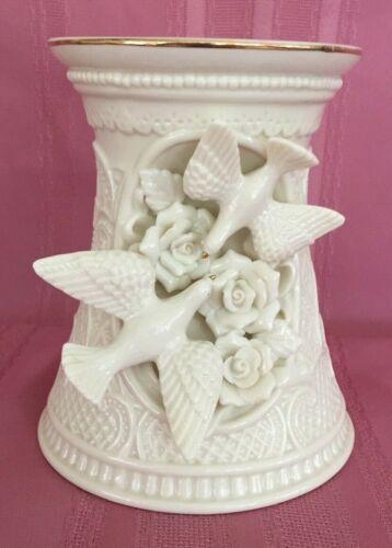 Vintage Porcelain Ivory Candlestick Holder