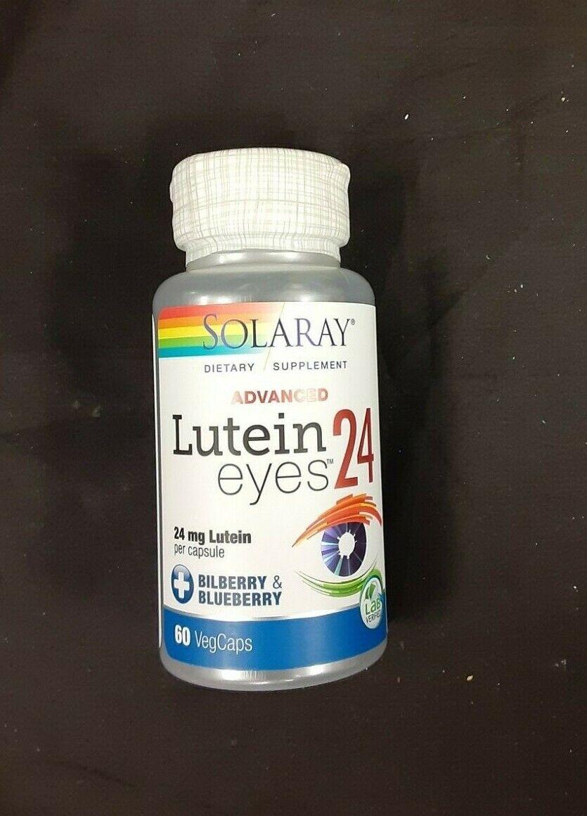 Solaray Advanced Lutein Eyes, 24mg | Eye & Macular Health Su