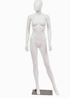 Female Display Mannequin Rotated Head Full Body White Plastic Manikin-yfc-1w
