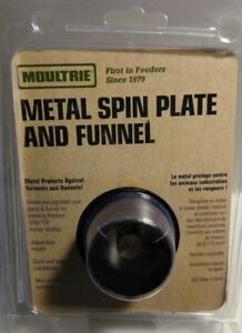 NEW Moultrie Metal Spin Plate and Funnel Kit Deer BIG Game Feeder MHF-ASPF P4