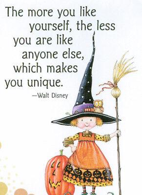 Walt Disney-UNIQUE WITCH-Handcrafted Halloween Magnet-w/Mary Engelbreit art  ](Disney Halloween Art)
