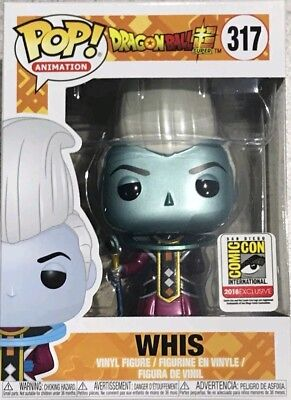 Sdcc 2018 Funko Pop  Metallic Whis Dragon Ball Z Super Funimation Exclusive