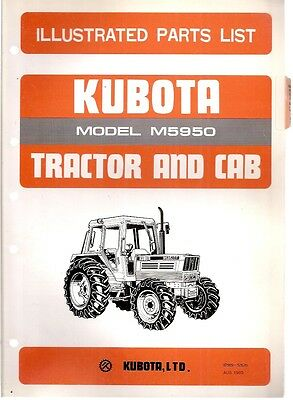 Kubota M5950 Tractor Illustrated Parts List