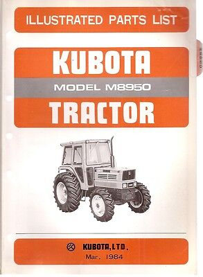 Kubota M8950 Tractor Illustrated Parts List
