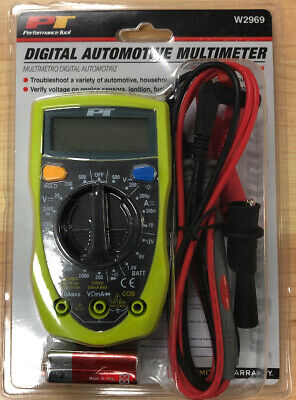 Performance Tool Automotive Multimeters Lcd Display Green W2969 039564012914 New