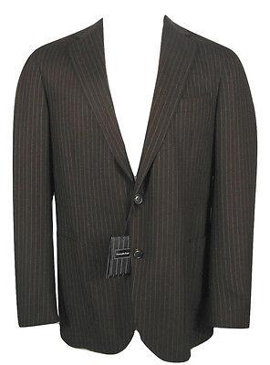 NEW Ermenegildo Zegna Sportcoat Blazer, Jacket! US 42 R e 52 R  Brown Pinstripe