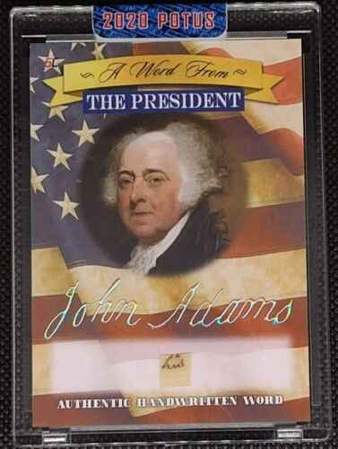 2020 A Word from POTUS Authentic Handwritten Word John Adams