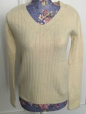 THE ROW-CREAM CASHMERE V NECK SWEATER-SIZE:S-MINT (Mint Cashmere Cream)