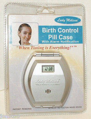 """LADY MELISSA BIRTH CONTROL 3.25"""" X 3.5"""" PILL For fear that b if WITH ALARM NOTIFICATION NEW"""