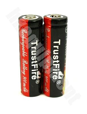 Pcb Protected Rechargeable Battery (Trustfire 14500 Rechargeable 3.7v Protected Li-ion PCB Battery x2 )