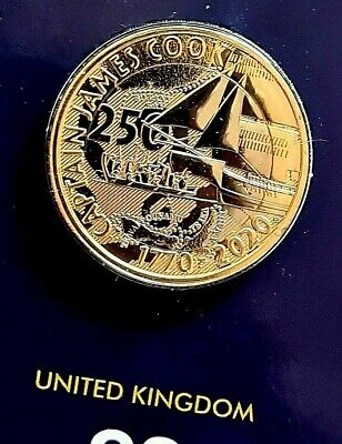 2020 CAPTAIN COOK Brand New £2 COIN on Certified Hologram Card BUNC