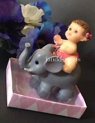 1-Baby Shower Favors It's A Girl Party Baby Decorations Elephant Cake Topper  (Girl Elephant Baby Shower)