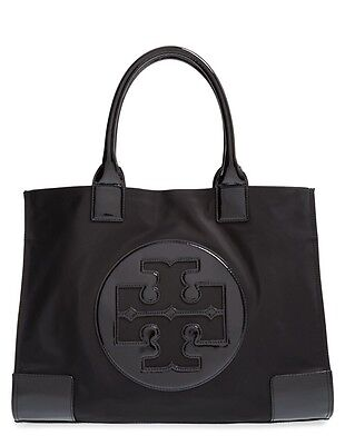 NWT Tory Burch Large Ella Tote Nylon Black