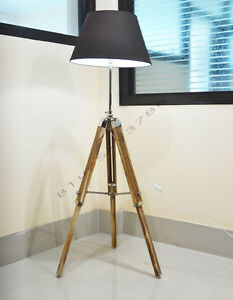 designer royal nautical tripod floor lamp wooden tripod lamp stand. Black Bedroom Furniture Sets. Home Design Ideas
