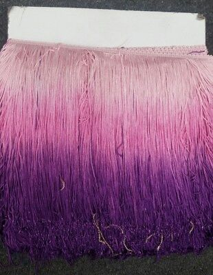 ombre chainette fringe 10 inches ,sold by yard Ombre Fringe