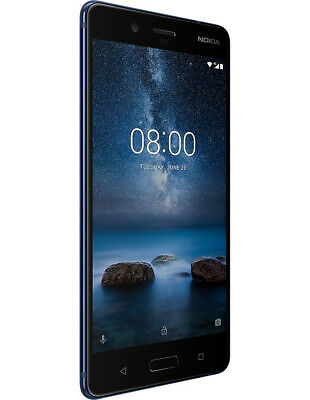 """New Nokia 8 Courtly Blue 5.3"""" 64GB Octa Core 4GB LTE Android 7.1 Sim Free UK"""