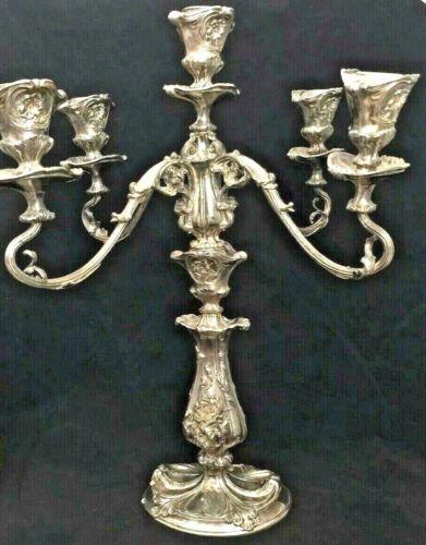 Antique Pairpoint Candelabra Quadruple Silver Plated Art Nouveau B6102