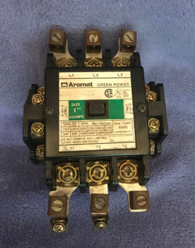 Aromat Green Power Contactor FC35U AC120V SIZE 1 45 Amp