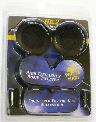 200 Watt 3 Way - NB-2 POWER ACOUSTIK 200-Watt, 3-Way Niobium Micro Dome Tweeters for Car Stereo