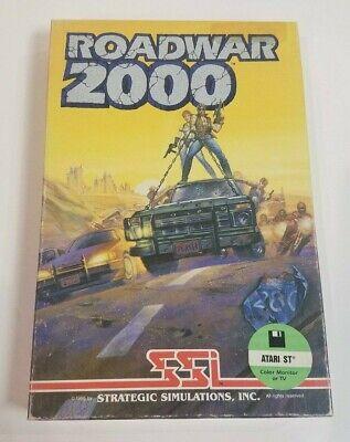 Atari Roadwar 2000 1040 ST Vintage Computer Video Game Disk Box Manual
