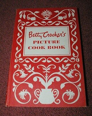Betty Crocker Picture Cookbook Hard Cover 1950 Sixth Printing Very Clean