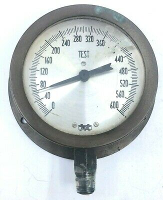 Vintage Marshalltown Brass Nautical Pressure Gauge 600 Psi