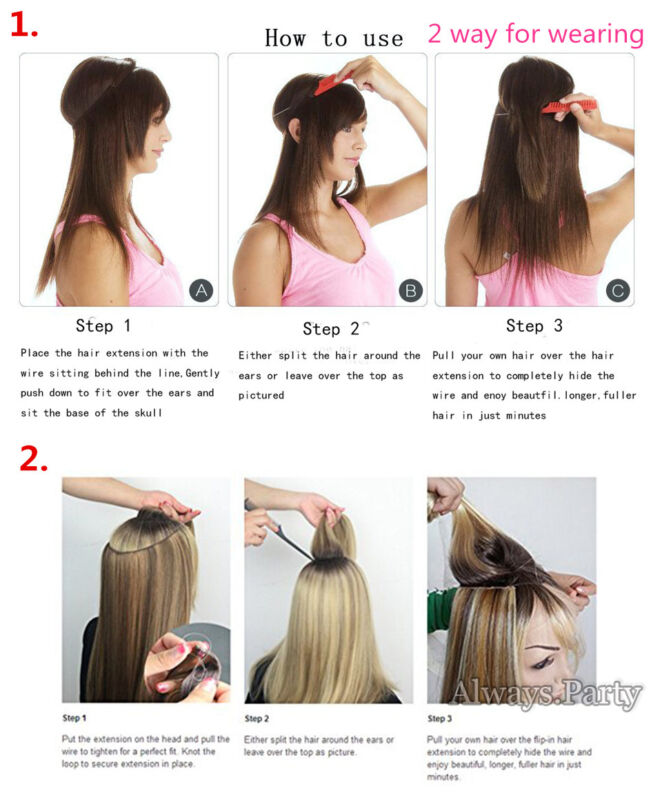 Elastic Wire Hair Extensions Headband Invisible Wire Hidden Secret