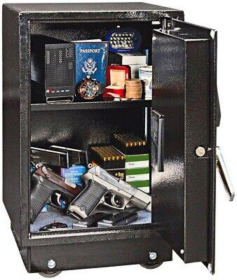 Large Steel Heavy Duty Gun Safe Home Security Floor Vault Cash Money Lock Box