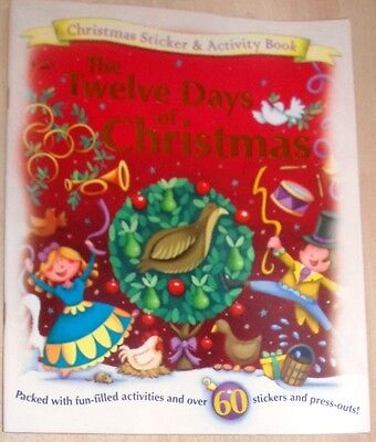 New Christmas Sticker and Activity Book - The Twelve Days of Christmas - Halloween Day Activities