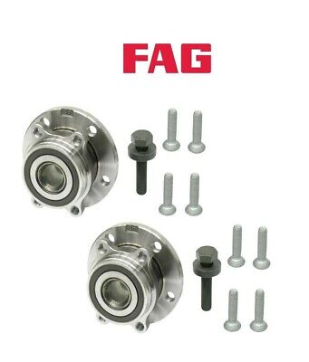 Pair Set 2 Front FAG Wheel Bearing and Hub Kit for Audi A3 Q3 TT Q VW Eos Golf