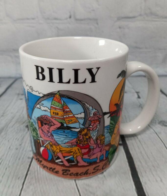 "Myrtle Beach South Carolina Coffee Mug ""BILLY"" Cup Ocean Beach Vacation Souvenir"