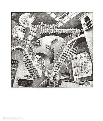 MC Escher Relativität Poster Kunstdruck Bild 65x55cm