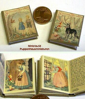 1008# Grimms Märchen 2 Nostalgie Miniaturbücher - Puppenhaus-Puppenstube-M 1zu12