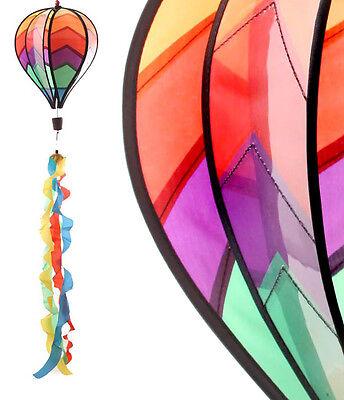 Windspiel Ballon bunt  Ø 23 cm Windspinner Windspirale Gartendeko