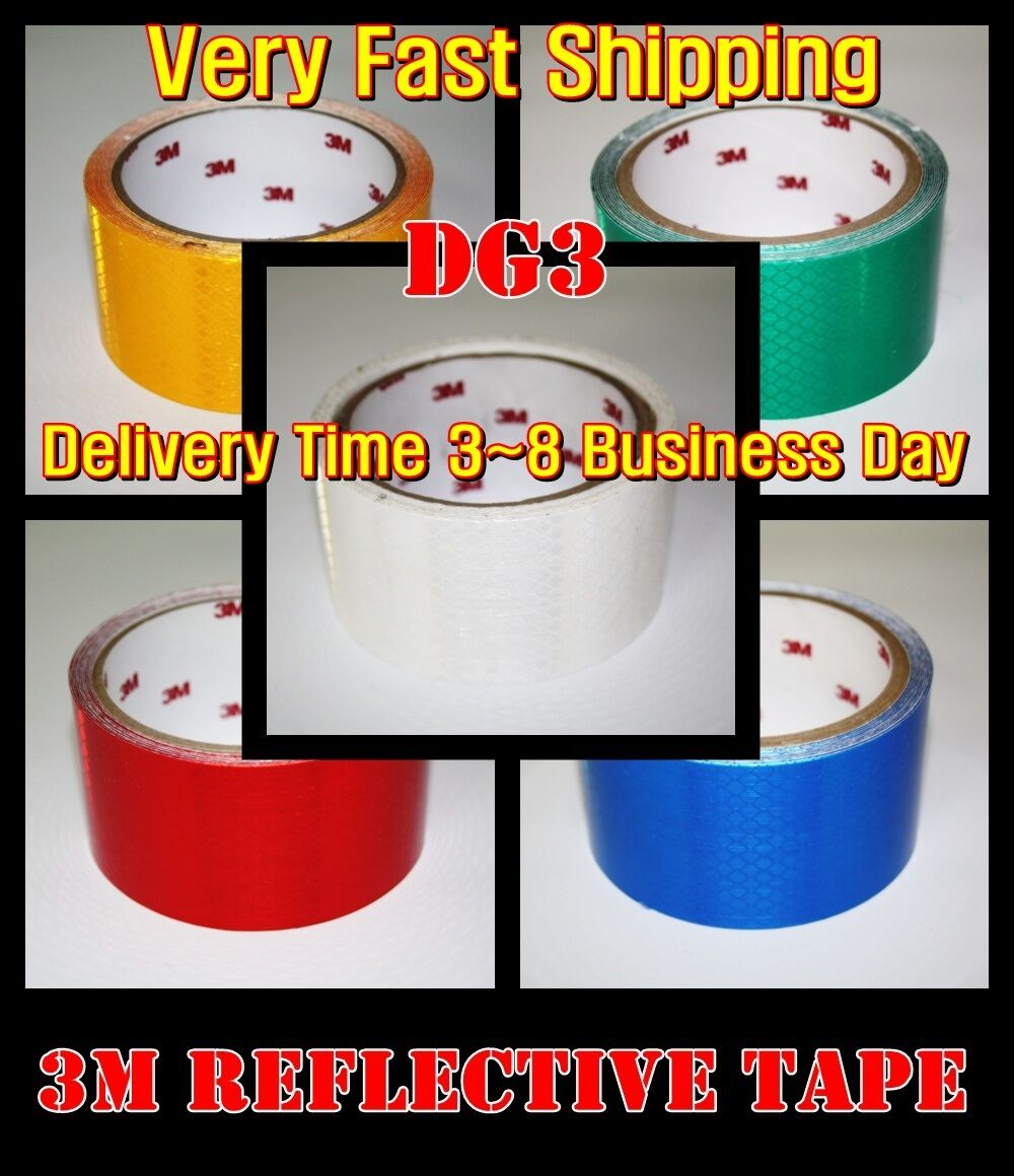 L:33ft/3M/TM/White REFLECTIVE Tape/DG3/Diamond Sheet/Vinyl/A