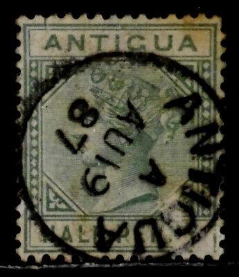 ANTIGUA, BRITISH: 1882 19TH CENTURY CLASSIC STAMP SCT #12 CDS CANCEL CV $20 SND