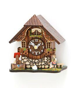 Schwarzwälder Kuckucksuhr kleine Tischuhr Uhr mit Kuckucksruf Schwarzwaldhaus