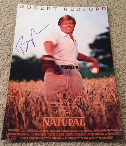 BARRY LEVINSON SIGNED AUTOGRAPH THE NATURAL 12x18 PHOTO POSTER w/EXACT PROOF