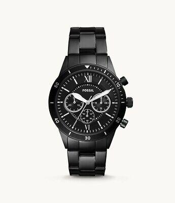 Fossil Flynn Sport Herren Uhr Armbanduhr BQ2227 schwarz Chronograph Neu OVP