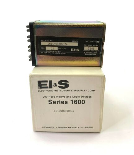 EI&S Series 24v Coil 1600 Cat 1610T0008S24 Dry Reed Relay 8645