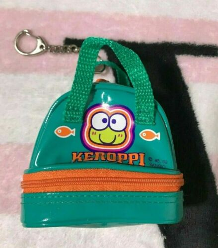 Sanrio Keroppi Mini Pouch 1988 1998 Purse Bag Keychain